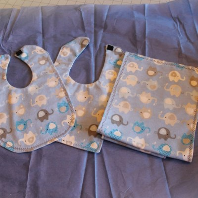 How I Made These Burp Cloths and Bibs