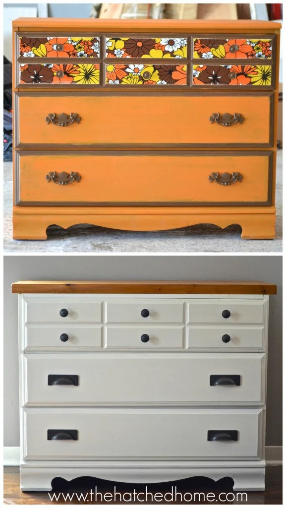 Thrifted Dresser Makeover from The Hatched Home.intelligentdomestications.com Feature for Merry Monday