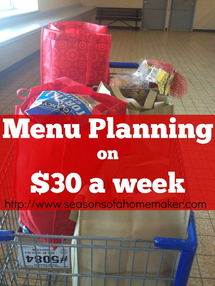 Menu Planning on $30 weekly. MM48