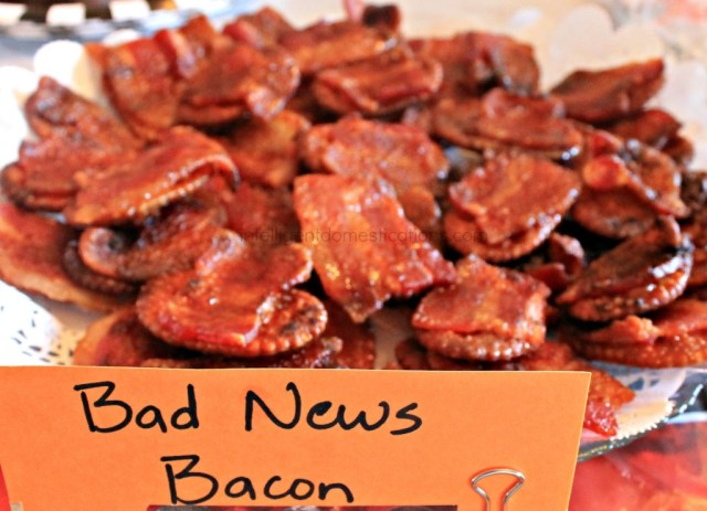 WWE Theme Party Ideas with recipes and decor. WWE Party. Serve your guests some Bad News Bacon at your WWE Theme Party.intelligentdomestications.com