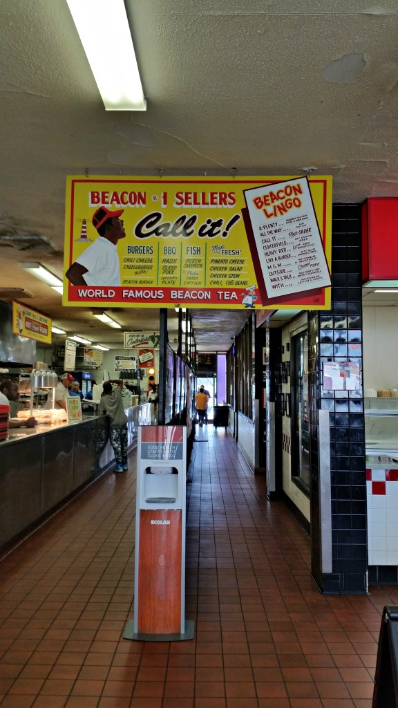 A view of the Beacon Drive In ordering line inside the restaurant