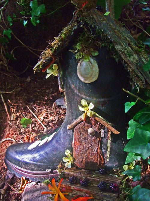 Fairy Garden in an old boot