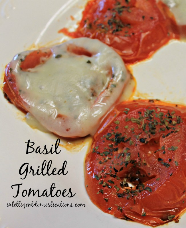 Our Basil Grilled Tomatoes are cooked on the griddle on the stovetop but you can cook them on the outdoor grill too.