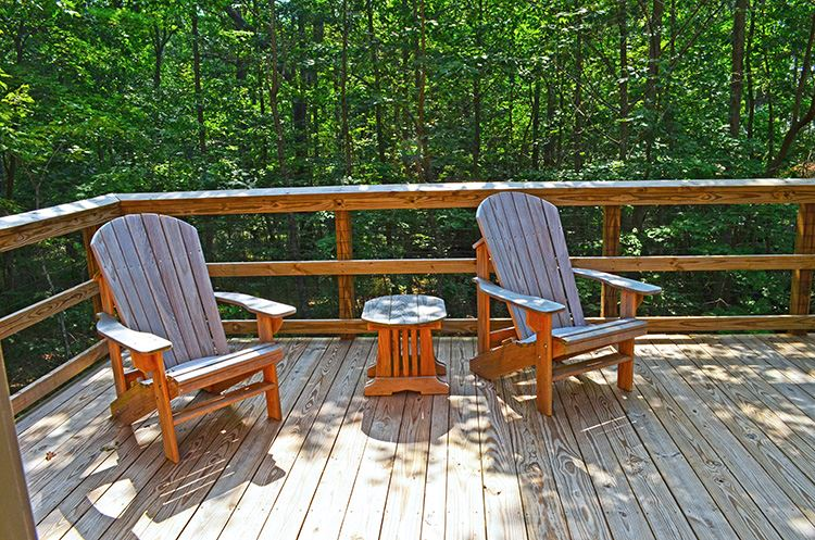 Cloudland Canyon Yurt Balcony