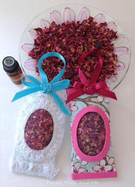 Rose petal sachets