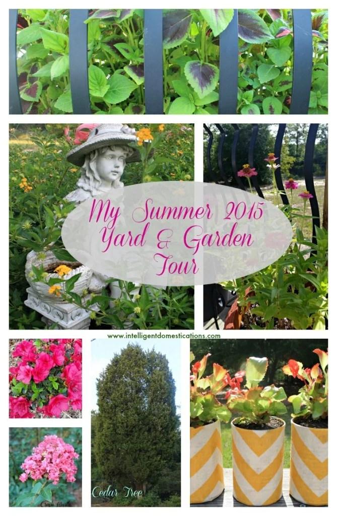 My Summer 2015 Yard and Garden Tour.www.intelligentdomestications.com