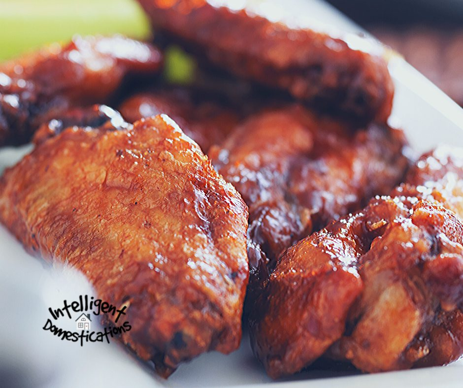 BBQ wings served on a plate