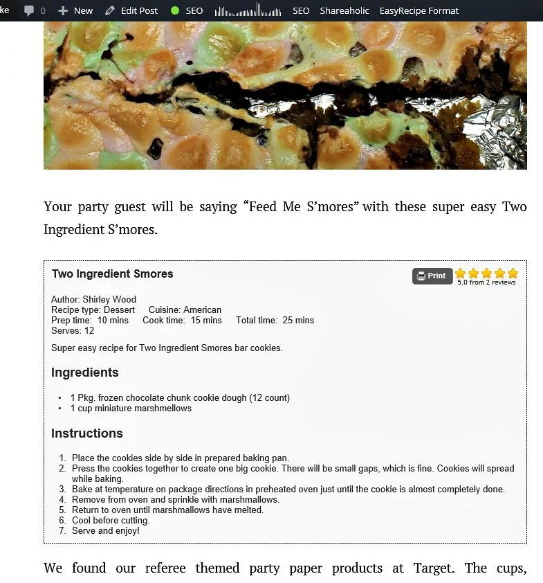 Easy Recipe allows a more professional look for printable recipe sharing and readers can even rate your recipe.intelligentdomestications.com