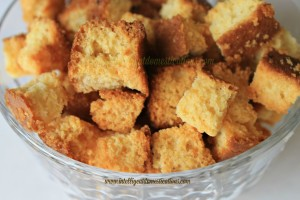 Make you own Cornbread Croutons with leftover cornbread. Learn how at www.intelligentdomestications.com