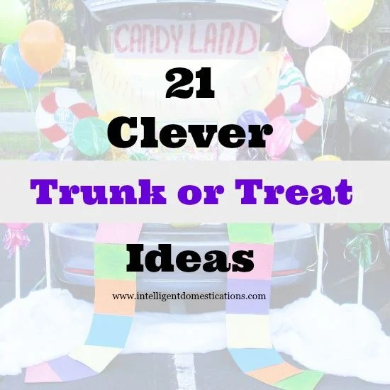 21 Clever Trunk or Treat Ideas 550x550 at www.intelligentdomestications.com