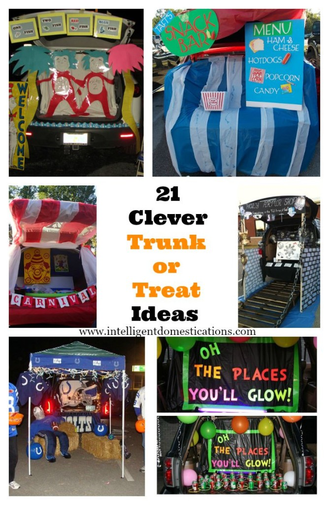 21 Clever Trunk or Treat Ideas at www.intelligentdomestications.com