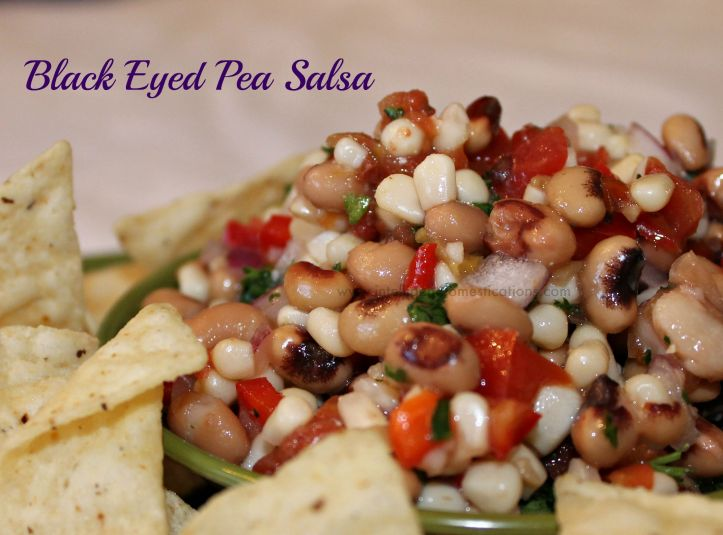 Black Eyed Pea Salsa & Chips.www.intelligentdomestications.com
