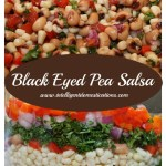 Black Eyed Pea Salsa easy recipe. aka Texas Caviar, this easy dip for chips is like a dump recipe. No cooking involved. Fresh vegetables paired with herbs, corn and black eye peas make a delicious side dish or dip. #texascaviar #salsa #blackeyepeas