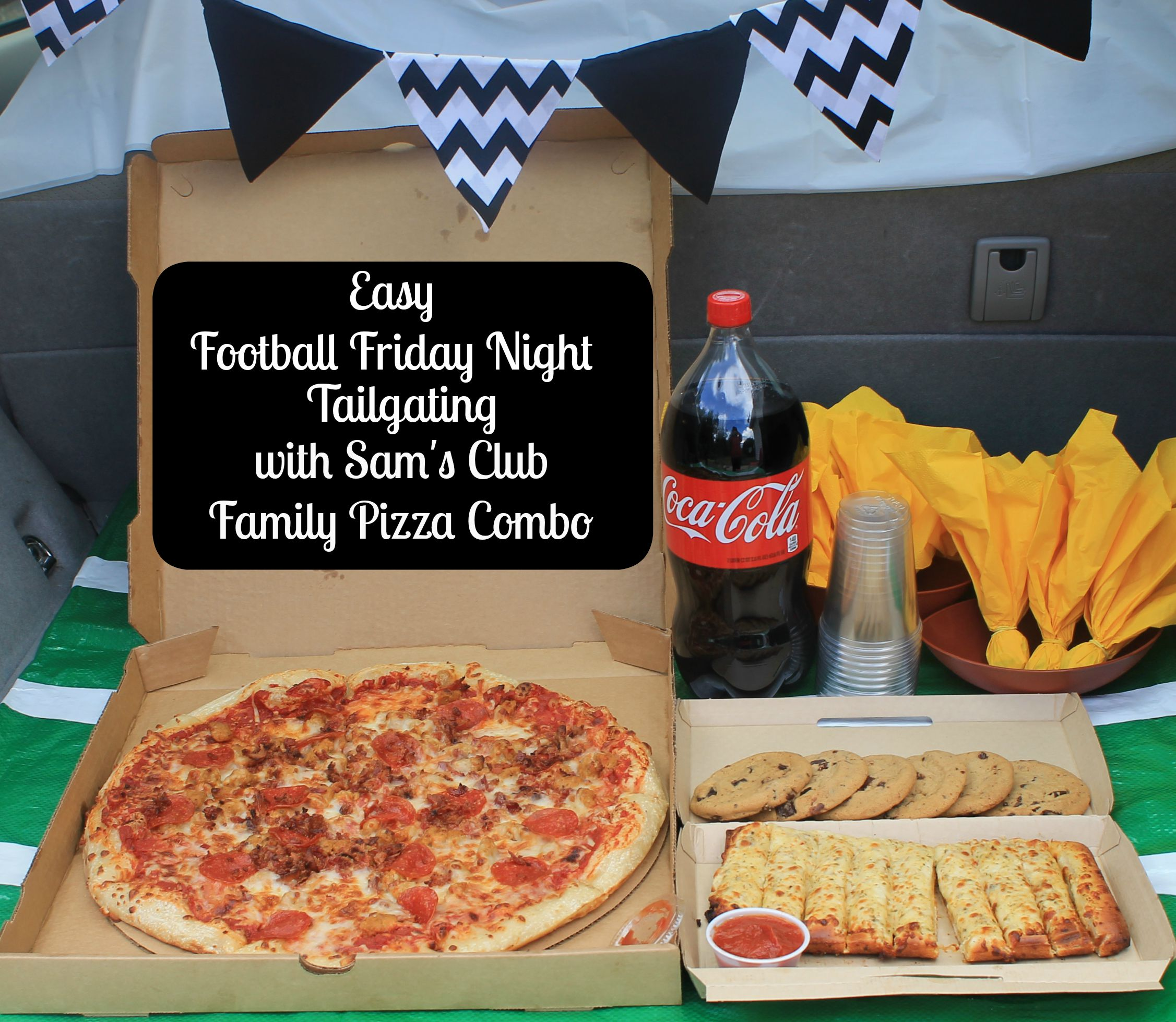 Easy Football Friday Night Tailgating with Sam's Club Family Pizza Combo.www.intelligentdomestications.com