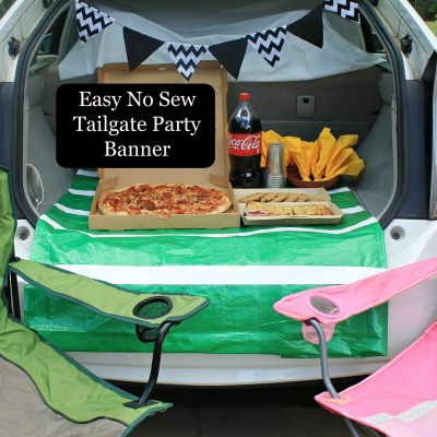 DIY Easy No Sew Tailgate Party Banner