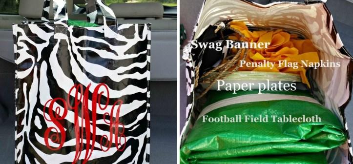 Football Friday Night Easy Tailgating Bag 1.www.intelligentdomestications.com