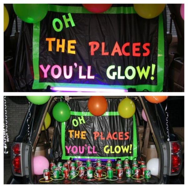Oh the places you'll glow Trunk or Treat design. 21 Clever Trunk or Treat designs. Trunk or Treat