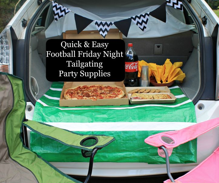 Quick & Easy Football Friday Night Tailgating Party Supplies.www.intelligentdomestications.com