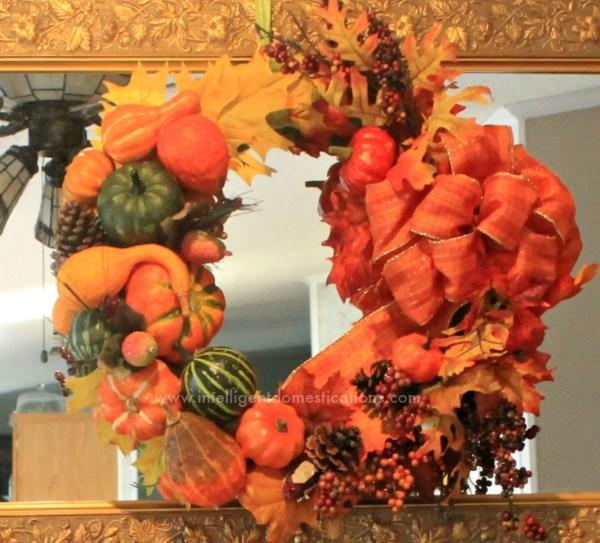 DIY Cornucopia Wreath craft