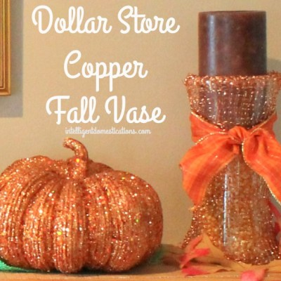 Dollar Store Décor Fall Copper Vase