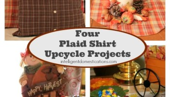 upcycle plaid shirts into home decor - Domestications Home Decor