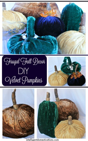 DIY Velvet Pumpkins is actually a Frugal Fall Decor item you will love