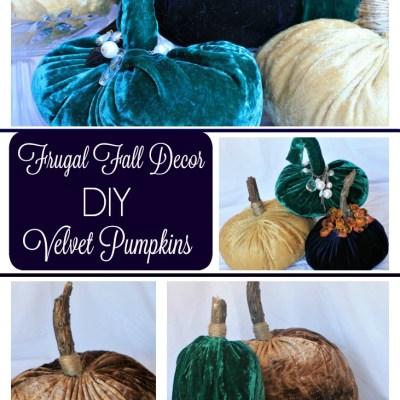Frugal Fall Décor Velvet Pumpkins