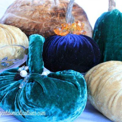 How To Make Hand Sewn Velvet Pumpkins