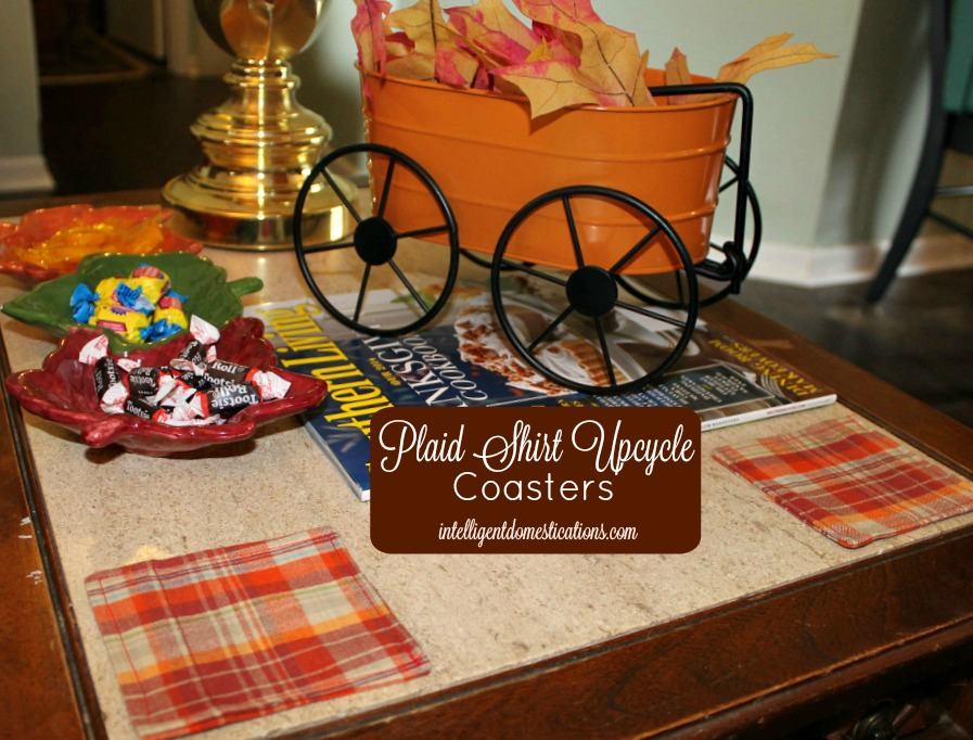 Fall decor on an end table