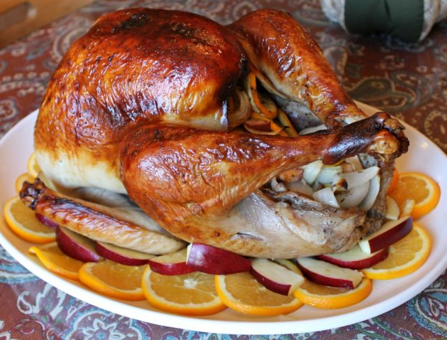 Citrus and Herb Brined Baked Turkey for Thanksgiving
