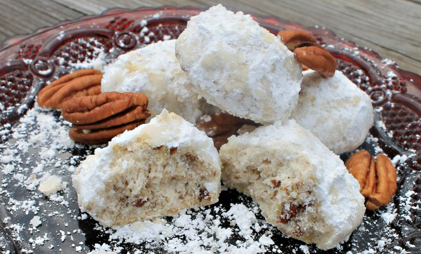 Pecan Snowdrop Cookies also know as Mexican Wedding Cookies