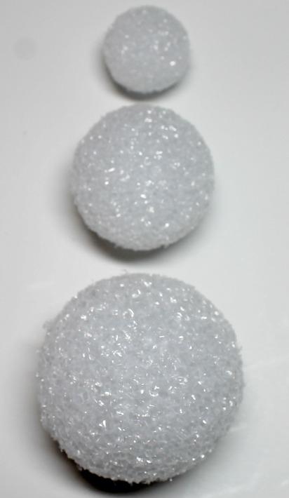 Snowman Ornamet. Used 3 Dollar store styrofoam balls