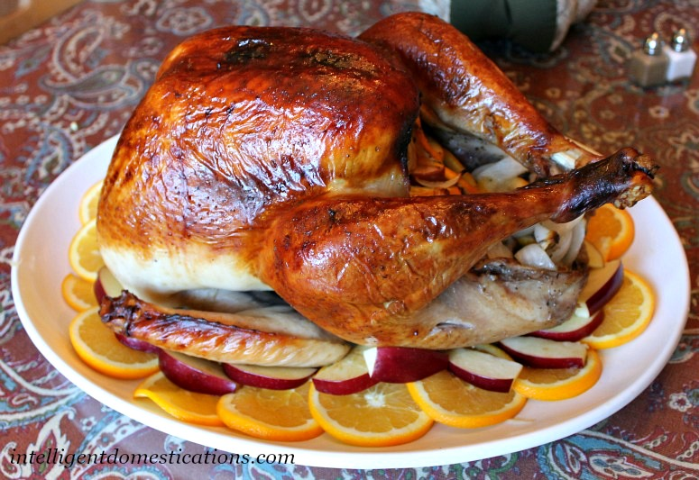 Citrus and Herb Brined Roasted Turkey. Thanksgiving Turkey Recipe.