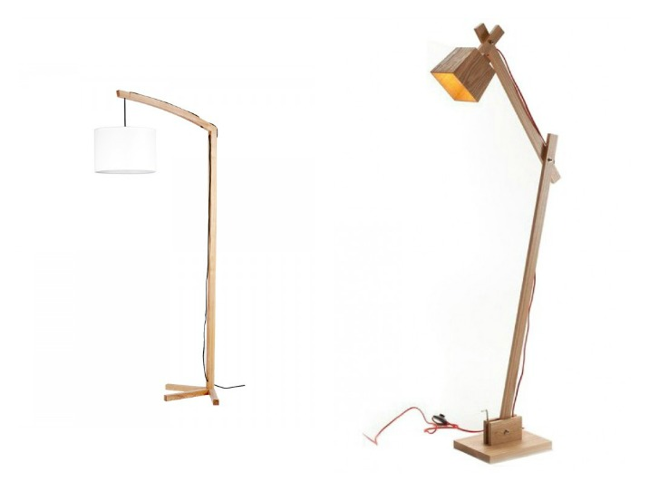 Wooden Floor lamps at Parrot Uncle