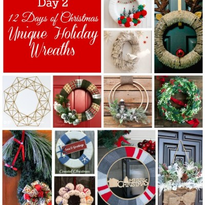 12 Unique Christmas Wreaths &  Link Up