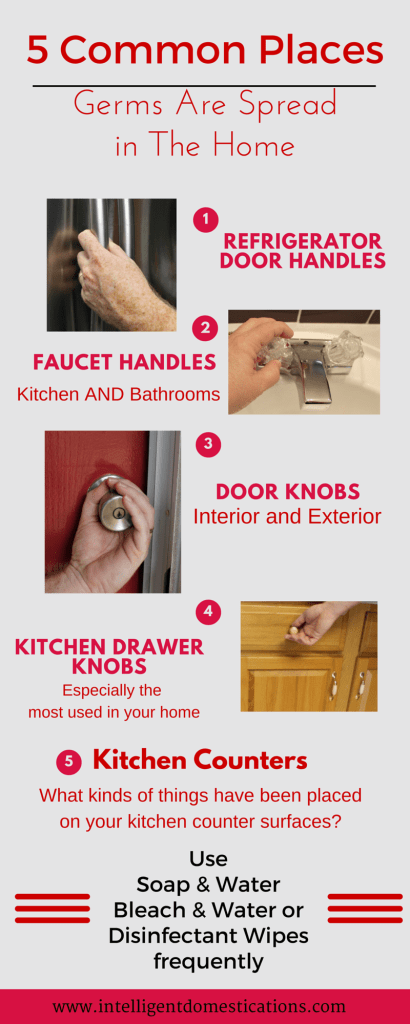 5 Common Surfaces in the Home with the Most Germs.intelligentdomestications.com
