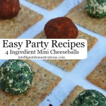 Easy Party Recipes. 4 Ingredient Mini Cheeseballs.intelligentdomestications.com