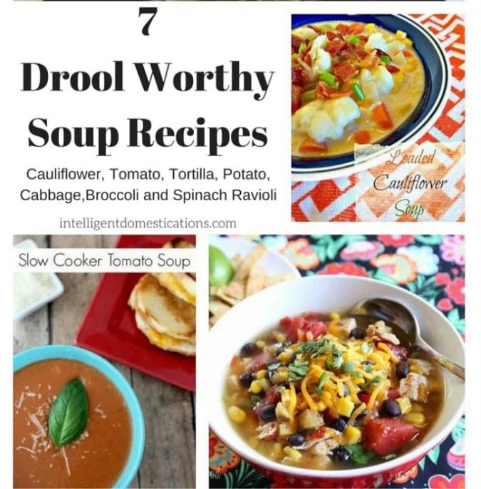 7 Drool Worthy Soup Recipes at intelligentdomestications.com