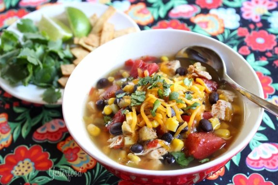 Chicken Tortilla Soup by Yesterfood.com