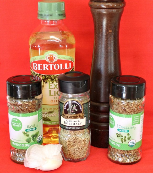 Seasonings and spices used to make Italian butter
