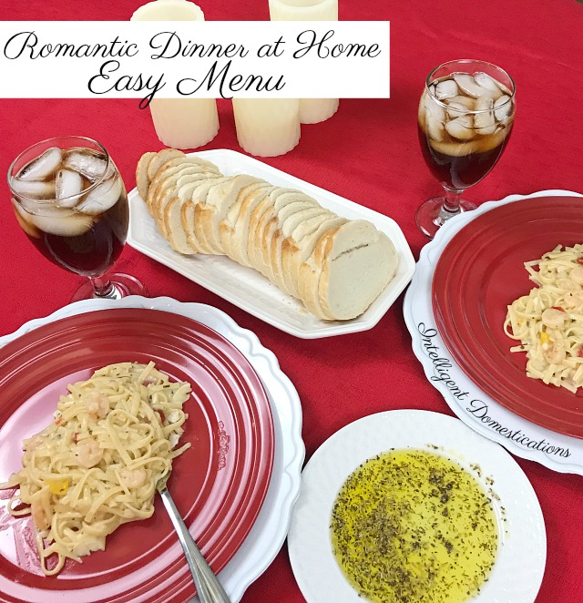 Cheap and Easy Date Night Romantic Dinner at Home Menu. Save the bucks and have a lovely candle lit date night at home. #datenight