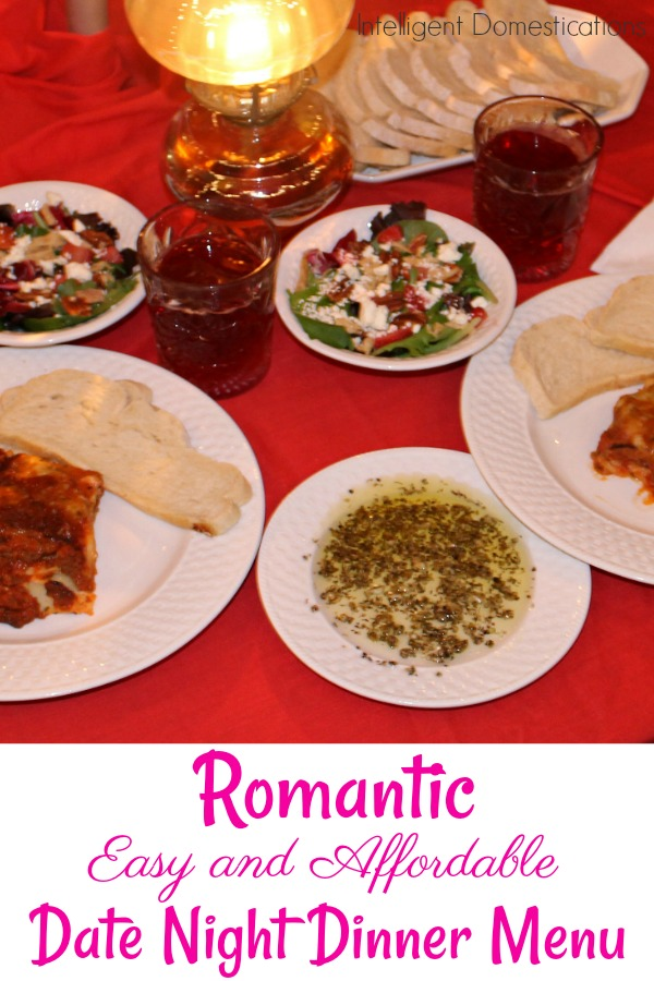Romantic Easy and Affordable Date Night Menu idea