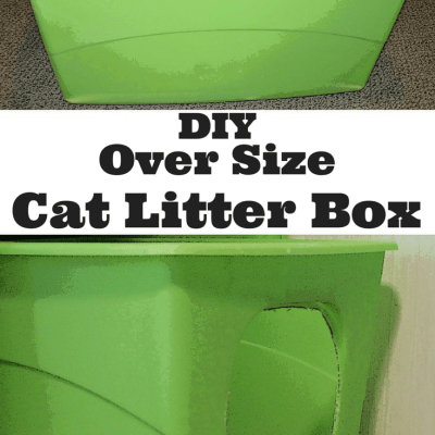 DIY Oversize Cat Litter Box