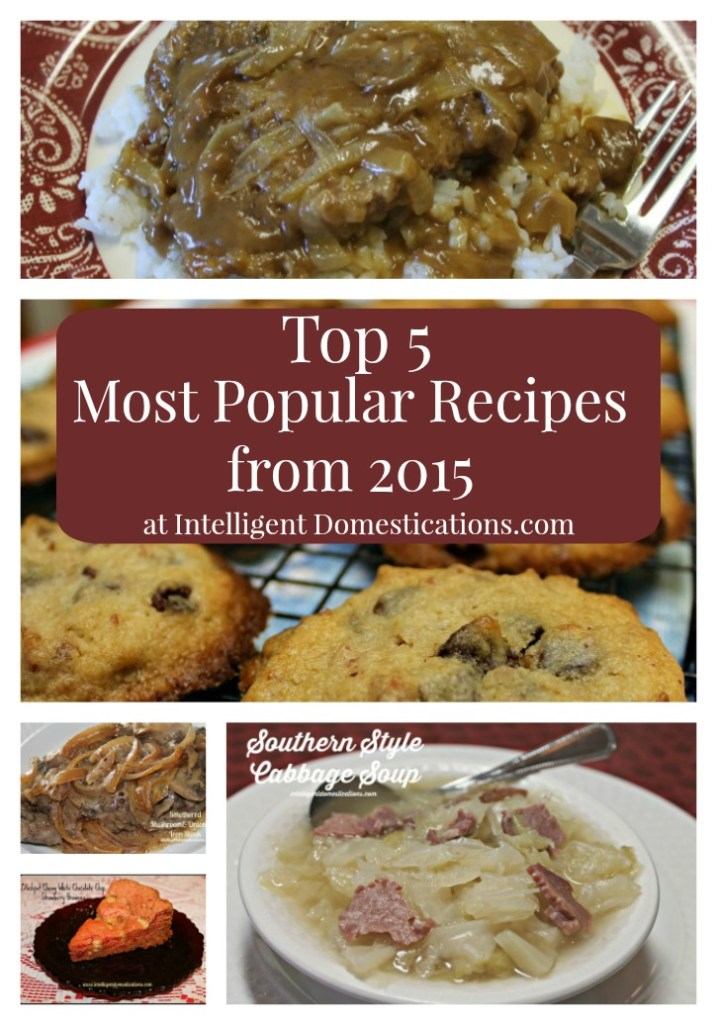 Top 5 Most Popular Recipes from 2015.intelligentdomestications.com