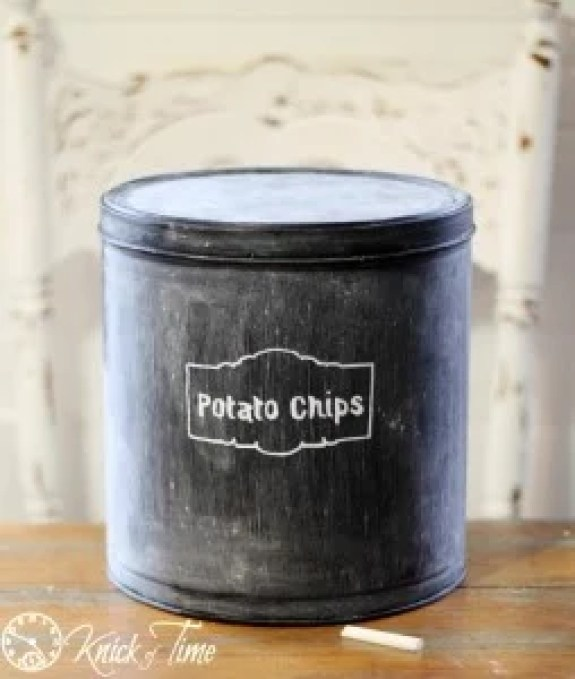 chalkboard-tin-canister at Knick of Time