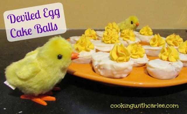 Deviled Egg Cake Balls Platter from Cooking With Carlee