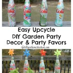 Easy Upcycle DIY Garden Party Decor and Party Favors at intelligentdomestications.com