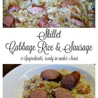 Skillet Cabbage, Rice & Sausage One Dish Dinner Recipe