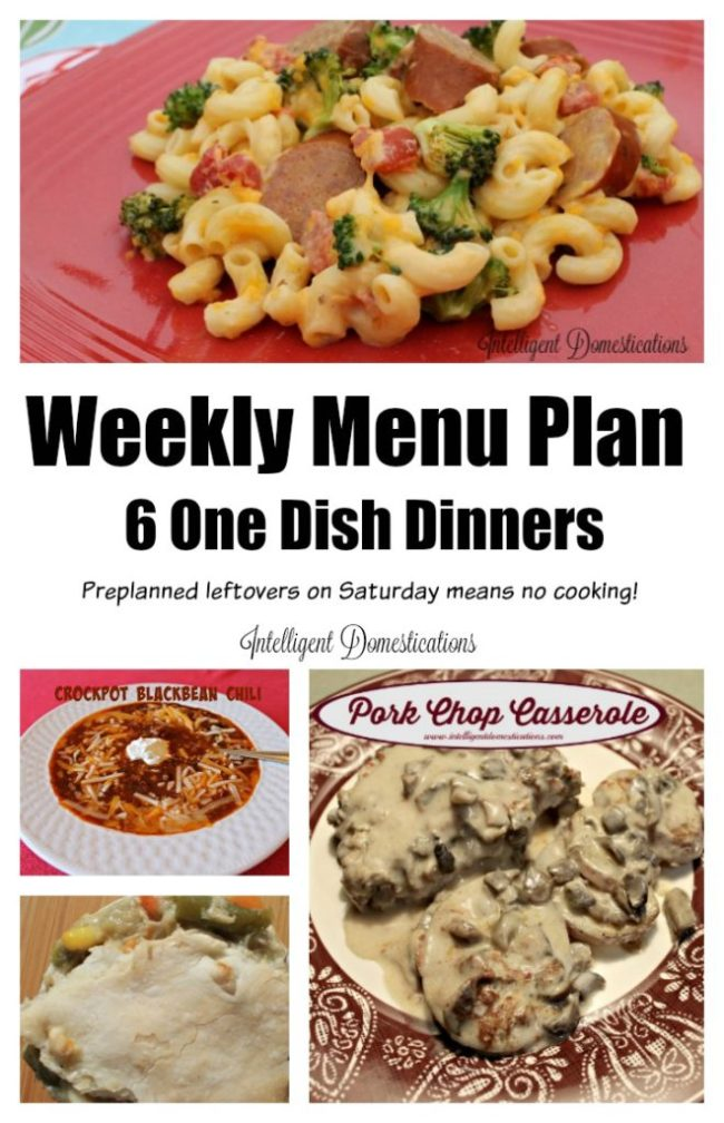 Weeknight Meal Ideas. Six One Dish Dinners