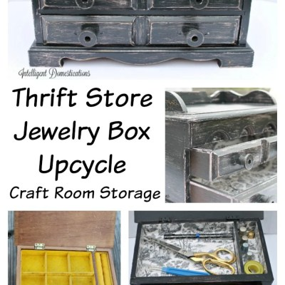 Jewelry Box Makeover & Thrift Store Decor Upcycle Challenge